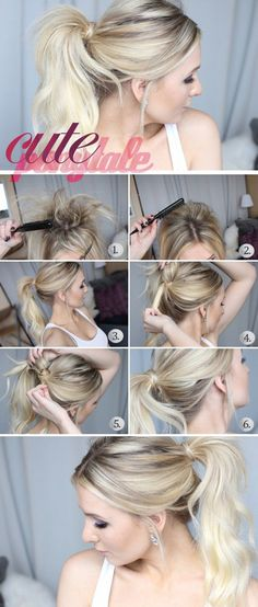 A sleek ponytail with clean hair looks amazing, but a messy ponytail with dirty hair looks just as good. This is a great option if your hair is feeling a little greasy and you want it out of your face. Spray it with some dry shampoo to get it even more volume.  - If you like this pin, repin it and follow our boards :-)  #FastSimpleFitness - www.facebook.com/FastSimpleFitness