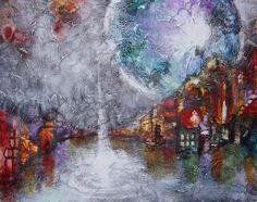 100 cm * 80 cm, silkespapper på canvas, akrylfärg