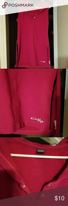 Oakley swim suit cover up Pink hooded terry cloth swim suit cover up, slits on side for comfort , size large Oakley Swim Coverups