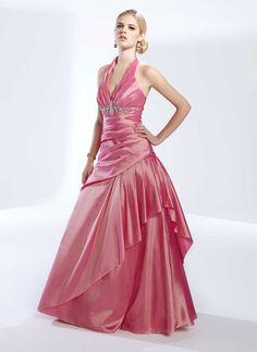 Pretty sleeveless A-line floor-length home coming dress
