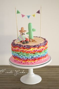 Birthday Cakes - Fiesta Cake made for a Mexican 21st Fiesta! So much fun.  https://www.facebook.com/sweetbakess