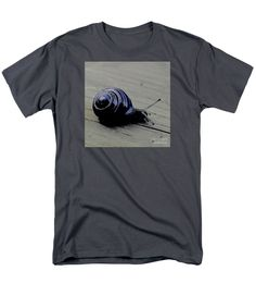 Purchase an adult t-shirt featuring the image of Taking My Time In Blue by Sverre Andreas Fekjan.  Available in sizes S - 4XL.  Each t-shirt is printed on-demand, ships within 1 - 2 business days, and comes with a 30-day money-back guarantee.