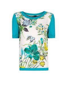MANGO - T-Shirt mit Blumenmuster