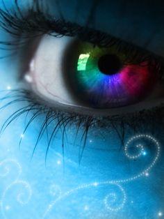 .:Rainbow Eye':. by ~Lemonlini