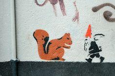 Squirrel and gnome