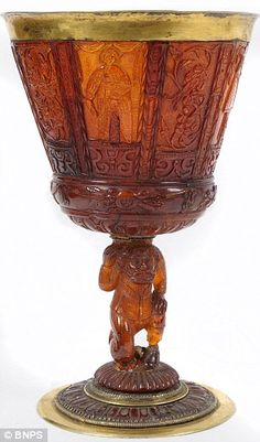 Not glass, but this magnificent 300 year old amber cup that was tipped to sell for £15k stunned experts when it went for a quarter-of-a-million pounds - even though it's broken.    Read the full amazing story at http://www.dailymail.co.uk/news/article-2047829/300-year-old-cup-held-Blu-Tack-sold-250k.html