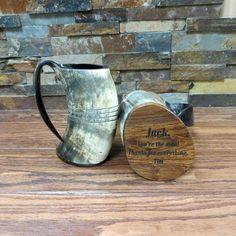 Authentic Buffalo Horn Mug Personalized Beer Mug Bar