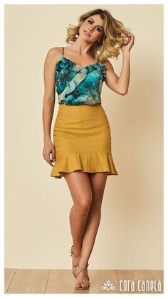 Fashion Fabric, Skirt Fashion, Fashion Outfits, Womens Fashion, Skirt Outfits, Cool Outfits, Summer Outfits Women, Office Outfits, Beautiful Outfits