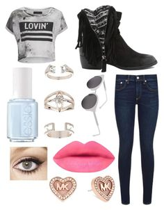 """""""Untitled #45"""" by mgrove1121 ❤ liked on Polyvore featuring Religion Clothing, rag & bone, Essie, Topshop, Qupid, RetroSuperFuture, Charlotte Tilbury and Michael Kors"""