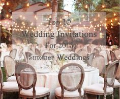 Top 10 Wedding Invitations For 2015 Summer Weddings Summer 2015, Summer Time, Got Married, Getting Married, Summer Wedding Invitations, Wedding Season, Table Decorations, Tables, Chairs