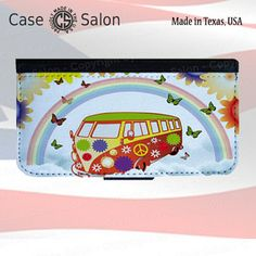 Hippie VW Bus, IPhone 4, IPhone 5, Samsung Galaxy S3, Samsung Galaxy S4 Flip Cover, No. 84 by Casesalon by SubliFascination on Opensky
