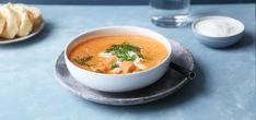 Kremet fiskesuppe med tomat Denne er supergod med dill og godt brød til! Thai Red Curry, Seafood, Eat, Ethnic Recipes, Sea Food, Seafood Dishes