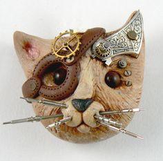 Christi Friesen's Stempunk Cat Rosie