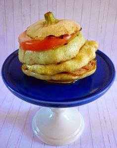 Stuffed pattypan squash . Zucchina ripiena
