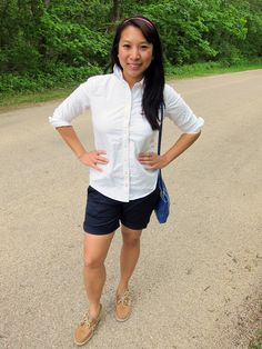 Navy Uniqlo chino shorts. Classic for Summer.
