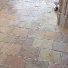 reclaimed terracotta tile floor in living/dining/kitchen area, hallway and study Patio Tiles, French Antiques, My House, Tile Floor, Terracotta Tile, Flooring, Tile Ideas, Vermont, Uni