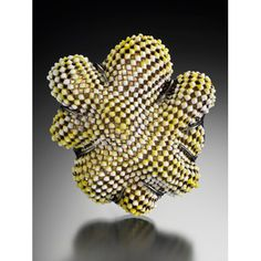 Wendy McAllister : vitreous enamel, copper, oxidized sterling silver with 24-karat gold leaf
