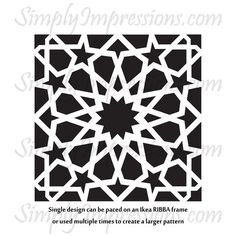 Islamic inspired vinyl decal in geometric designs, can be displayed in many ways. Use them as privacy tiles for your windows, place them on cards, and canvases