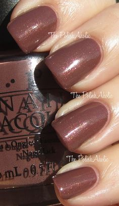 Nail Polish of the Moment: OPI Wooden Shoe Like to Know? -Perfect color for fall. The subtle shimmer looks beautiful in sunlight.