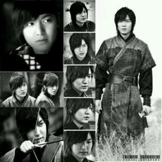 Lee Min Ho collage in black and white.