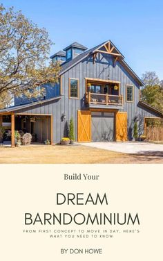 Looking to build your dream barndominium, but not sure where to start? We've helped thousands of barndo lovers get informed about their options. Barndominiums are awesome because you can get away to the country, away from cities and suburbs. No more nosy neighbors wondering how you're living your life, and no one to bother you. If you've been looking to build your dream barndominium, this is your guide. We walk you through the entire process. Metal House Plans, Pole Barn House Plans, Pole Barn Homes, Barn Plans, Small House Plans, House Floor Plans, Pole Barn Garage, Steel Building Homes, Building A House