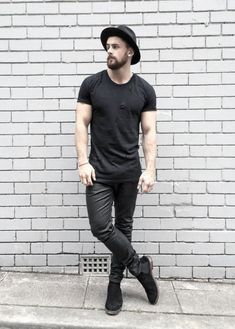 Mens Casual Clothing All Black Outfits