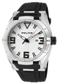 Price:$99.00 #watches Police 13093JS-04, This Police timepiece is uniquely known for it's classy and sporty look. It's accentuated design has made it one of the best sellers year after year.
