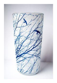 Blue Swifts Cyanotype Vase  £11.00