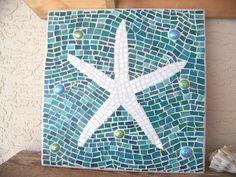 Mosaic Starfish Wall Art - Starfish Decor - Wall Hanging - Stained Glass Mosaic Art - Beach Decor - Coastal Home Decor -Turquoise Home Decor by bluewaveglass on Etsy https://www.etsy.com/listing/207885608/mosaic-starfish-wall-art-starfish-decor