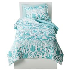 Target Room Essentials; Floral Bed in a Bag - Sea Foam Green ... $40 bed in a bag ... with pink walls?