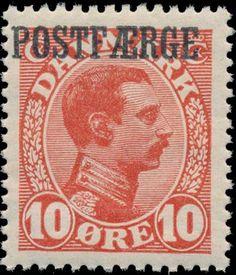 Denmark Post Ferry 1919. King Christian X. 10 Øre