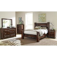 Bring the mountains to your bedroom with this rustic-inspired collection!#Comfort #OutdoorRetreat #Rustic #Design #Home