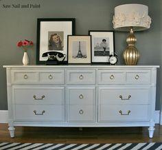 White Thomasville dresser