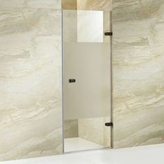 Vigo Tempo 28-In To 28.5-In Frameless Hinged Shower Door Vg6073arbcmc2