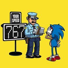 'Speeding Ticket' Funny Video Game Character Parody - Vinyl Sticker