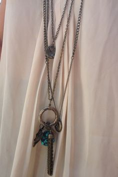 Big Rock II necklace  turquoise howlite pendant by thisOutfit