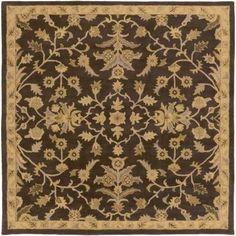 Artistic Weavers Zari Black 6 ft. x 6 ft. Square Indoor Area Rug