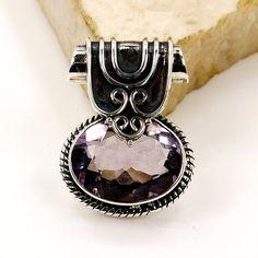 Mystical Medallion Amethyst Pendant & .925 by TheSilverPlaza