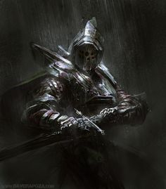 Dark Souls Knights - The lighting and shading make the character more mysterious.