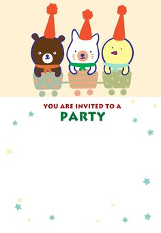 Free Printable Friends Party Invitation
