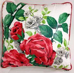 Vintage Rose Print Chintz 18inch Throw PILLOW