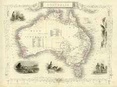 Map of Australia Antique Australian Map by SigningStar on Etsy, €11.50