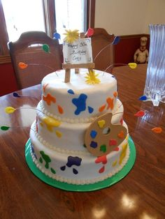 Cake Ideas For Artist : Bella s birthday party ideas on Pinterest Kids Art Party ...