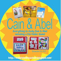 Bible Fun For Kids: Genesis Series: Cain & Abel Sunday School Teacher, Sunday School Lessons, Sunday School Crafts, School Fun, Bible Lessons For Kids, Bible For Kids, Toddler Bible, Kain Und Abel, Old Testament Bible