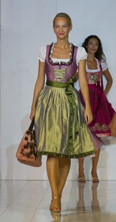 ALPENMÄDEL S/S 2012 @ Tracht & Country Salzburg | Copyright: Reed Exhibitions Salzburg / Andreas Kolarik Austrian women likes traditional dress and she can wear it at job as well.