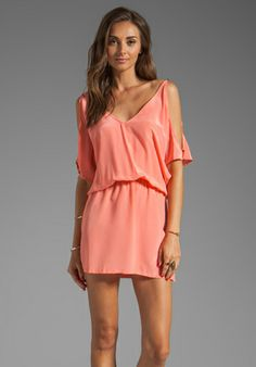 KARINA GRIMALDI Melanie Solid Mini in Coral at Revolve Clothing - Free Shipping!