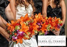 Bridesmaid Bouquets #tropical #flowers by Houston Wedding Florist | Sicola's |