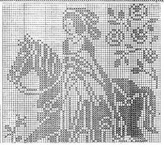 Mary Heklani Radovi I Sheme 114 Filet Crochet Charts, Cross Stitch Charts, Cross Stitch Patterns, Crochet Patterns, Chrochet, Crochet Lace, Cross Stitch Flowers, Crochet Animals, Cross Stitching