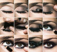 Steps to smokey-eye look