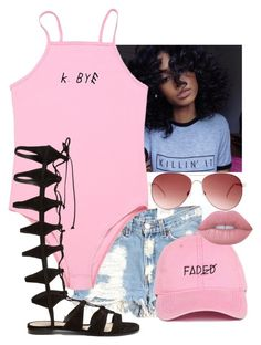 """Dont kill my vibe 💅🏾😛"" by dopestqueen-1 ❤ liked on Polyvore featuring Furst of a Kind, Steve Madden, Schutz and Lime Crime"
